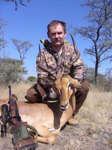 Импала — мой третий трофей первого дня первой африканской охоты. Неплохой самец и неплохой выстрел.