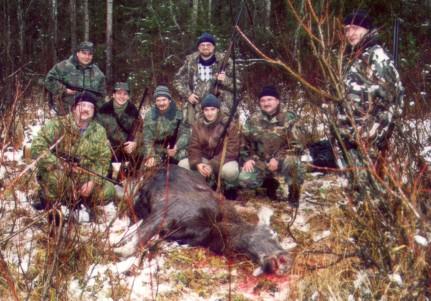 Одна из первых клубных охот Huntclub в р-не г.Любим