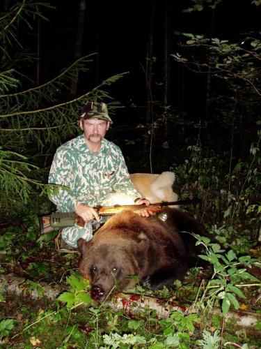 Это первый мой тверской медведь, в Торопецком районе, уже Зауером